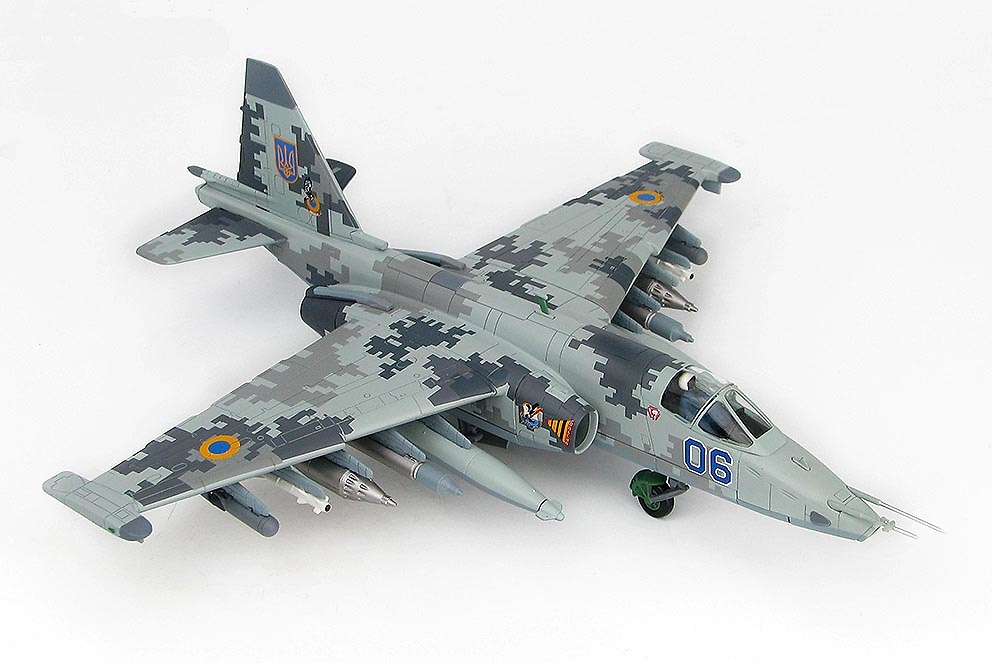 Su-25M1 Frogfoot Blue 06, 299th Aviation Brigade, Fuerzas Aéreas Ucranianas, Nikolaev, 2014, 1:72, Hobby Master