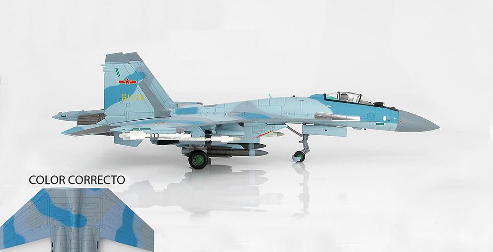 Su-35S Flanker E 61174, Fuerza Aérea del Ejército de Liberación del Pueblo, China, 2016, 1:72, Hobby Master
