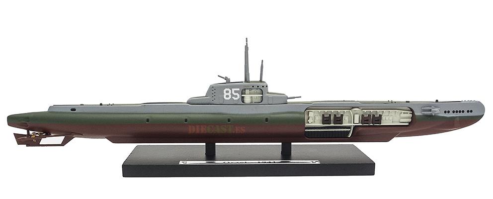 Submarino Orzel, 85A, Polonia, Segunda Guerra Mundial, 1:350, Editions Atlas