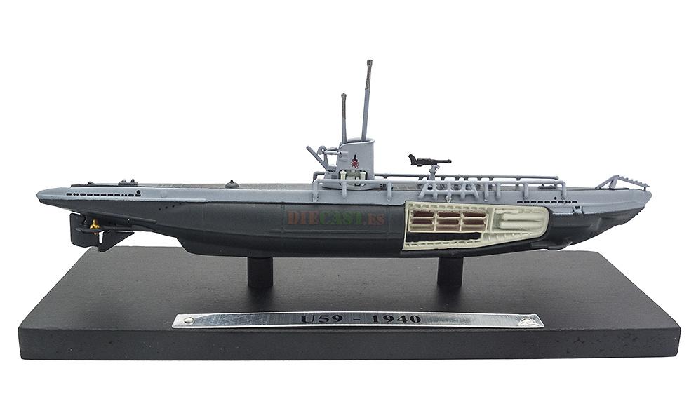 Submarino U59, Alemania, Segunda Guerra Mundial, 1:350, Editions Atlas