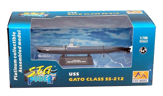 Submarino USS SS-212 GATO, 1944, 1:700, Easy Model