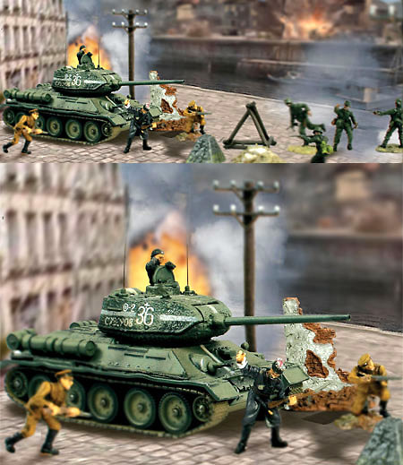 T-34/85 Set con 8 figuras, 1:72, Forces of Valor