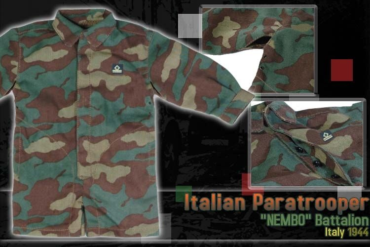 Teniente Franco Rizzoli, Paracaidista Italiano, Batallón Nembo, Italia, 1944, 1:6, Dragon Figures
