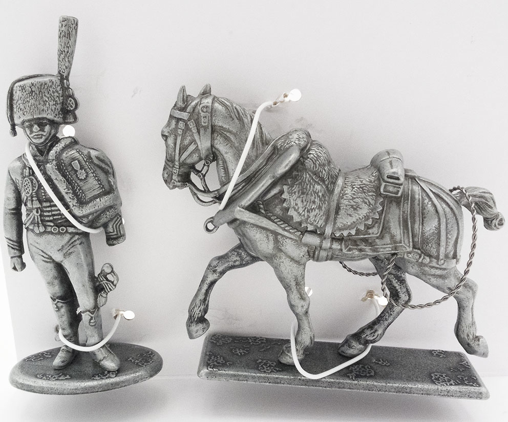 Teniente de la Guardia de Cazadores, Caballo de Tiro para Forja de Campo, 1:24, Atlas Editions