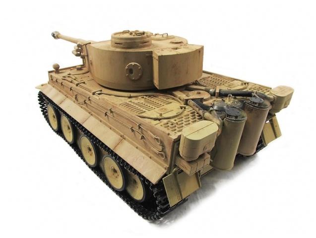 Tiger I, color amarillo desierto, 1:16, Mato