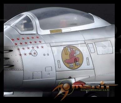 USAF F-86F Sabre Jet, Maj J. Jabara, 1953, 1:18, Merit