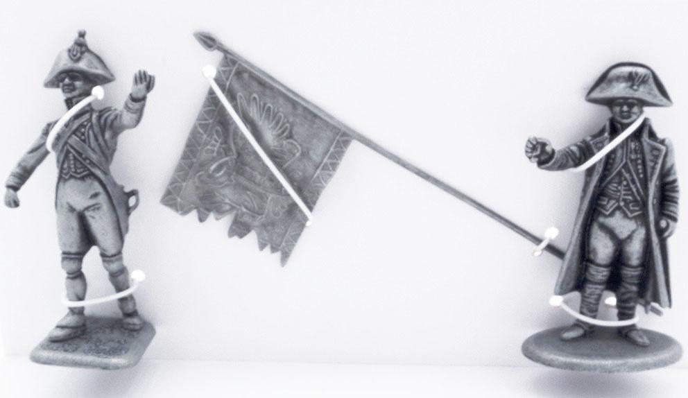 Voltigeur de Línea, Bandera Austriaca Portada por los Voltigeur de Línea, Napoleón I en Uniforme de los Cazadores a Caballo de la Guardia, 1:24, Atlas Editions