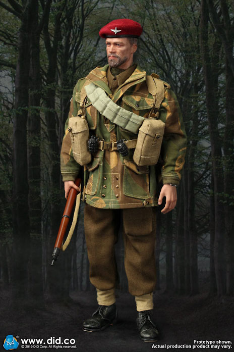 Camo Smock * Scarf 1//6 Scale DID Action Figures Charlie *B* Red Devils SGT