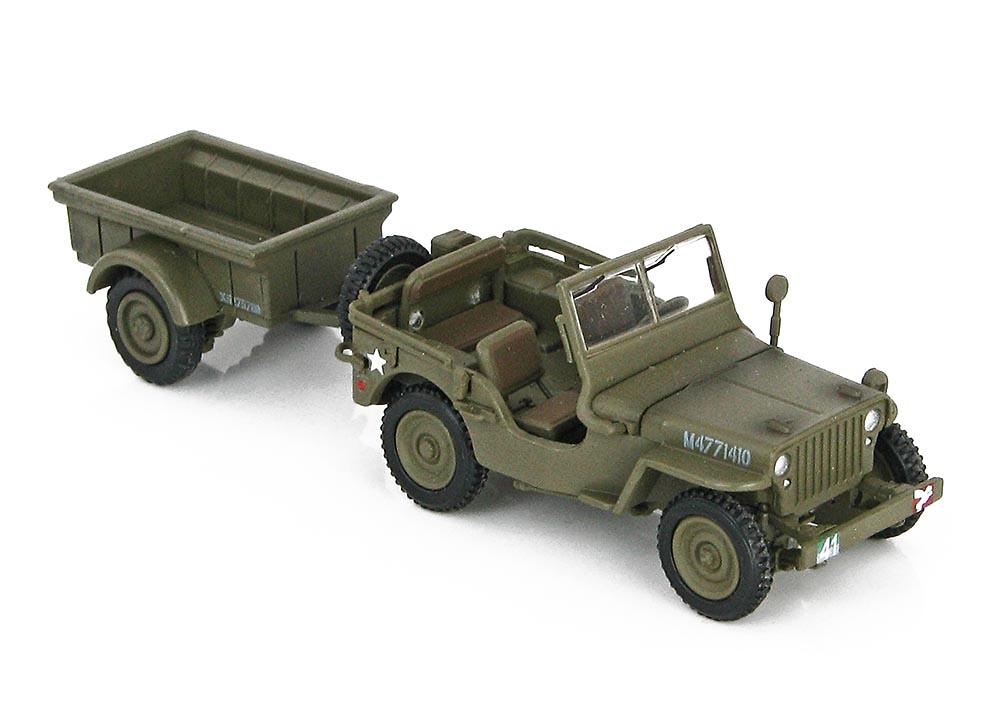 Hobby Master HG4214 1//72 Jeep Willys Con Remolque Normandía 1944