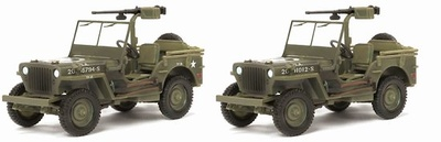 1/4 Ton 4x4 Truck w/.50cal Heavy Machine Gun (Twin Pack), 1:72, Dragon Armor