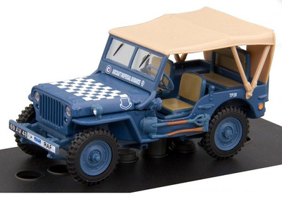 1/4 Ton Military Vehicle, Capota de lona, 1:43, Cararama