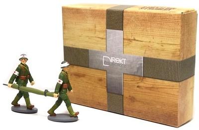 2 Soldados Sanitarios franceses con camilla, 1:43, Ixo