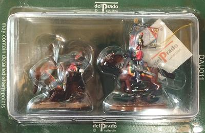2 soldados de caballería (uno derrotado, otro portaestandarte), 1:60, Del Prado