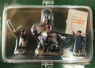 2 soldados de infantería y 1 montado a caballo, 1:60, Del Prado
