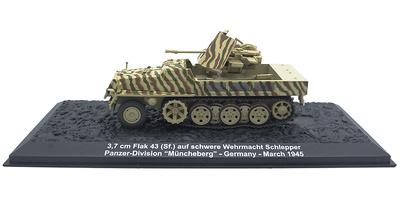 "3.7 cm Flak 43 auf (SF) s WS, Panzer Division ""Müncheberg"", Alemania, 1945, 1:72, Altaya"