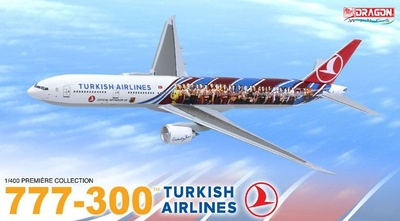 "777-300, Turkish Airlines ""FC Barcelona"", 1:400, Dragon Wings"