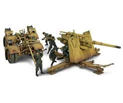 88mm Flak Gun, German Army, Normandy, 1:32, Forces of Valor