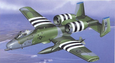 "A-10 Warthog U.S.A.F. 930 OG-45 TFS ""Hoosier Hogs"", 1:48, Franklin Mint"