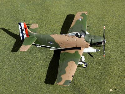 """A-1H Skyraider, USAF 633rd SOW, 6th SOS, """"Spad Dad"""", 1:72, Gemini Aces"""