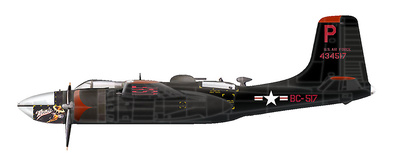 "A-26B Invader 44-34517 ""Monie"", 37th BS, 17th BG,  Korea, 1:72, Hobby Master"