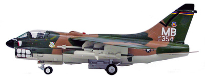 A-7D, Corsair II, S/N 71-0354, 354th, TFW, Korat RTAFB, Linebacher II, Thailand, 1972, 1:72, Witty Wings