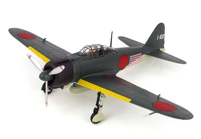 A6M2 Zero Fighter Type 21, 201st Naval Flying Group, piloto Tetsunzo Iwamoto, Rabaul, Noviembre, 1943, 1:48, Hobby Master