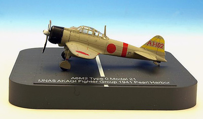 "A6M2 ""Zero"" Model 21 Ijnas Akagi Fighter Group AI-102 , Pearl Harbor, 1941, 1:144, X-Plus"
