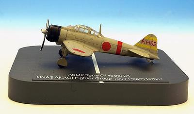 """A6M2 """"Zero"""" Model 21 Ijnas Akagi Fighter Group AI-102 , Pearl Harbor, 1941, 1:144, X-Plus"""