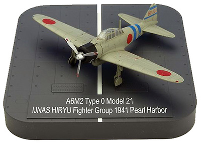 "A6M2 ""Zero"" Model 21 Ijnas Hiryu Fighter Group BII-101 , Pearl Harbor, 1941, 1:144, X-Plus"