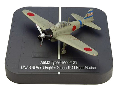 "A6M2 ""Zero"" Model 21 Ijnas Soryu Fighter Group BI-151 , Pearl Harbor, 1941, 1:144, X-Plus"
