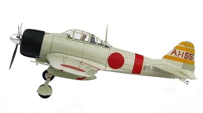 """A6M2b Zero Fighter Type 21  """"Pearl Harbor"""" piloto Shigeru Itaya, Escuadrón de Cazas del Akagi, Diciembre, 1941, 1:48, Hobby Master"""