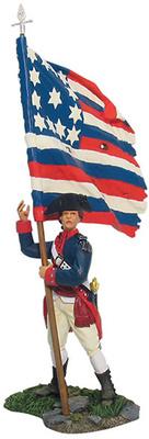 Abanderado con bandera Continental, 1:32, William Britains