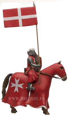 Abanderado de la Orden Hospitalaria de San Juan de Jerusalén S. XIII, Séptima Cruzada, 1:32, Altaya