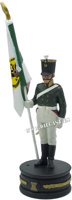 Abanderado del Regimiento «Vieille-Ingrie», Ejército Ruso, 1:24, Altaya