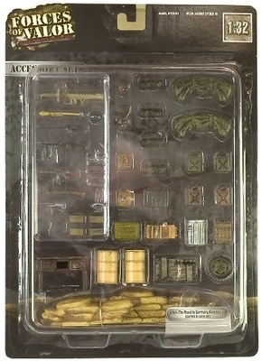 "Accesorios para diorama 2ª Guerra Mundial ""The road to Germany"", 1:32, Forces of Valor"