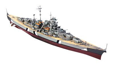 Acorazado Bismarck, Polonia, 1941, 1:1000, Forces of Valor