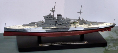 Acorazado HMS Warspite, Royal Navy, 1915-1945, 1:1250, Atlas