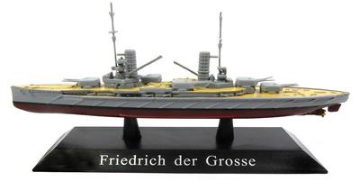 Acorazado SMS Friedrich der Grosse, Kaiserliche Marine, 1911, 1:1250, DeAgostini