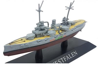 Acorazado Westfalen, Kriegsmarine, 1909, 1:1250, DeAgostini