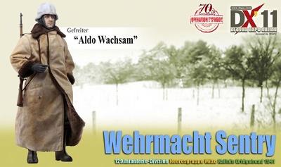 """""""Aldo Wachsam"""" (Soldado) Wehrmacht Sentry, 129.Infanterie-Division, Kalinin Bridgehead, 1941, 1:6, Dragon Figures"""