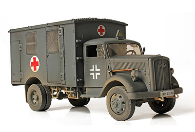 Ambulancia Opel 4x4, Ejército Alemán, Francia, 1940, 1:32, Forces of Valor