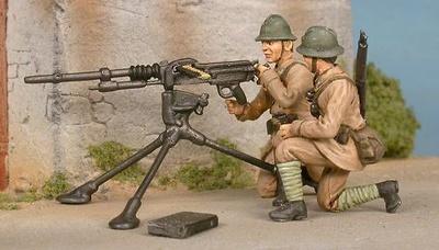 Ametralladora Hotchkiss 8 mm, Francia, 1940, 1:48, Gasoline