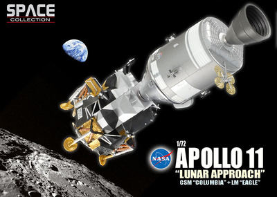"Apollo 11 ""Lunar Approach"" CSM ""Columbia"" + LM ""Eagle"", 1969, 1:72, Dragon Space Collection"