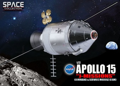 "Apollo 15 ""J-Missions"" Command/Service Module (CSM), 1971, 1:72, Dragon Space Collection"