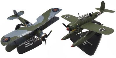 "Arado Ar-196 + Fairey Swordfish, ""¡Hundid el Bismarck!"", 1:72, Atlas"