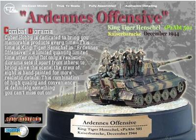 """Ardennes Offensive"" Kingtiger w/Fallschirmjager, s.Pz.Abt.501, Kaiserbaracke, Diciembre, 1944, Dragon Armor"