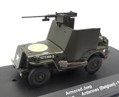 Armored Jeep, 82nd Airborne Division, The Ardennes, Belgium, 1945, 1:43, Atlas
