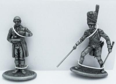 Artillero a Pie con Palanca de la Guardia Imperial, Ayudante de Cámara de la Casa del Emperador, 1:24, Atlas Editions