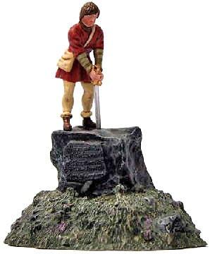 Arturo tirando de la espada, 1:32, William Britains