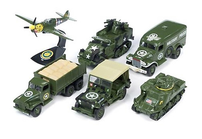 Assorted 6 World War II models, 1/64, Johnny Lightning